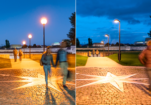 This new LED lighting achieved a significantly reduced ULOR with 77 % energy savings.