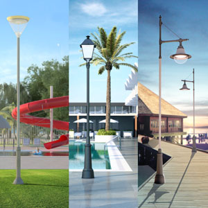 Thanks to their modular design, ATP outdoor lighting sets can be adapted to the esthetic needs of any hotel.