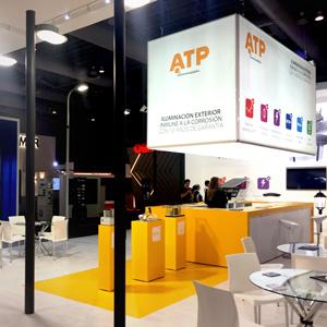 El stand de ATP Iluminación en la Expo Lighting América 2017, donde se exhibieron las luminarias LED de última generación de la firma.