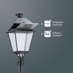 Laminar Heatsink® and Comfort Difusser® in a Villa LED.