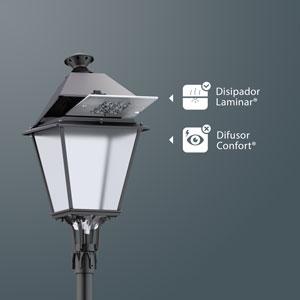 Laminar Heatsink® and Comfort Difusser® in a Villa LED.