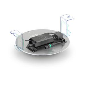 Este kit ha sido específicamente diseñado para que la sustitución sea rápida y sencilla. Incluye fijación adaptable a cualquier luminaria y conector único IP68 plug & play.