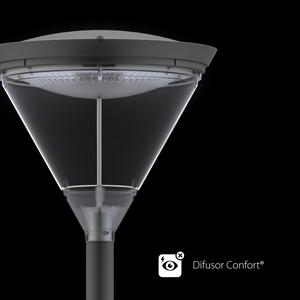 Una luminaria Cónica TLA LED con Difusor Confort®. Comodidad visual garantizada.