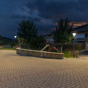 Faroles Villa LED en el concejo de Sagaseta.