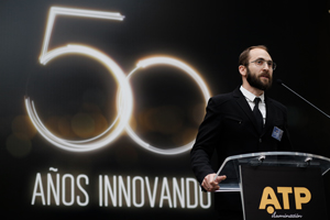 Guillermo Redrado, COO of ATP Lighting, at the opening ceremony of the 50th anniversary.