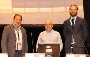 From left to right: Fernando Ibáñez, President of the CEI; Joxe Abaurrea, Deputy Mayor of Pamplona City Council, and Guillermo Redrado, Northern Area Delegate of the CEI. (Image courtesy of Smart Lighting.)