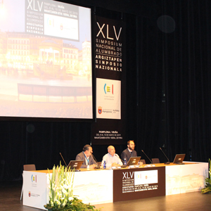 Opening of the XLV National Lighting Symposium, in the Auditorium Palace of Navarra. (Image courtesy of Smart Lighting.)