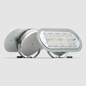 Aire® 7 Series. The Laminar Heatsink®, in contact with the outside of the luminaire, prolongs the life of the LED modules by more than 21,000 hours.