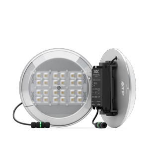 Detail of KitLED®, model M, designed to quickly and easily retrofit any manufacturer's luminaire to ATP LED technology.