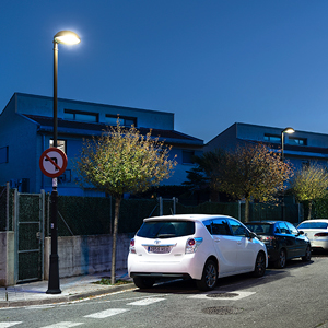 The luminaires' ULOR 0 %, together with their lower power, guarantee light pollution control.