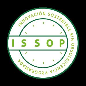 El emblema ISSOP (Innovación Sostenible Sin Obsolescencia Programada).