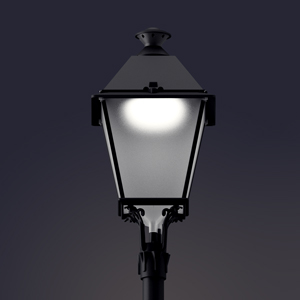 Villa LED public lighting luminaire with Comfort Diffuser®.