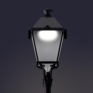 Luminaria de alumbrado público LED Villa con Difusor Confort®.