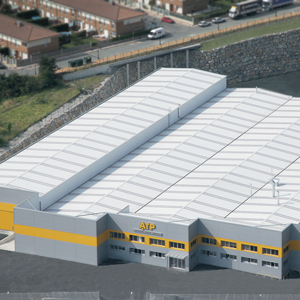 Aerial view of ATP factory, located in Navarra (Spain).