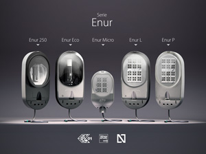 All the series of the Enur family have obtained the certificates N, ENEC and CB, in both discharge and LED versions.