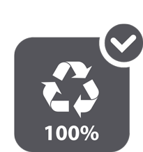 100% reciclables