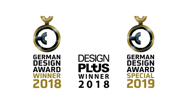 German Design Award (2018 y 2019) y Design Plus