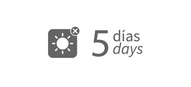 5 days of autonomy