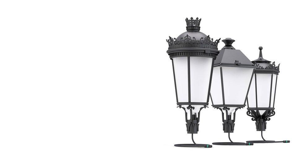 Anti-vandal classic streetlights